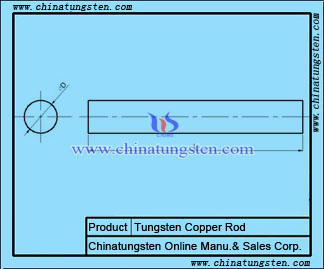 tungsten copper polished rod drawing